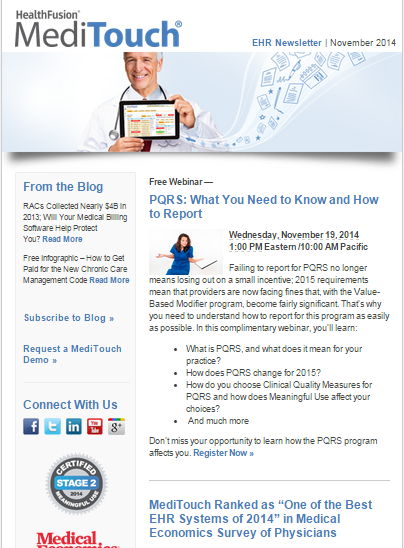 November Newsletter features articles on the new chronic care management code and more